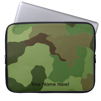 Traditional military camouflage laptop sleeve