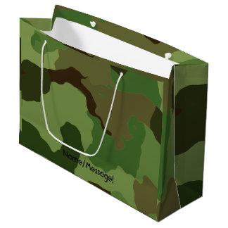 Traditional military camouflage large gift bag
