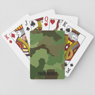 Traditional military camouflage. playing cards