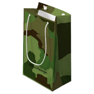 Traditional military camouflage small gift bag