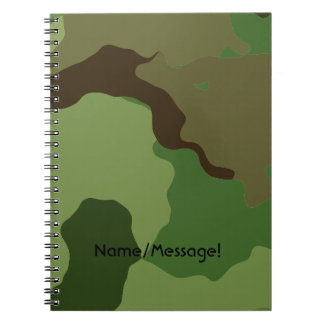 Traditional military camouflage spiral notebook