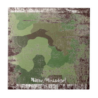 Traditional military camouflage tile