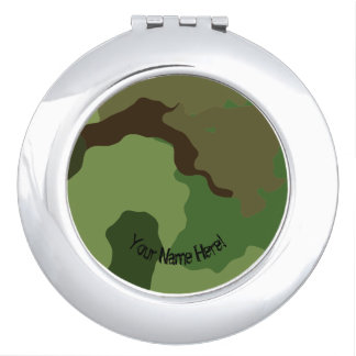 Traditional military camouflage. vanity mirrors