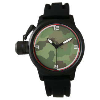 Traditional military camouflage. watch