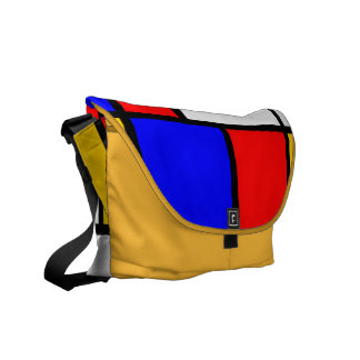 Traditional Mondrian Courier Bags