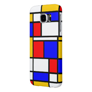 Traditional Mondrian Samsung Galaxy S6 Cases