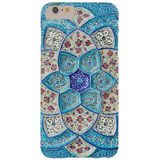 Traditional Moroccan turquoise Blue, white, salmon Barely There iPhone 6 Plus Case