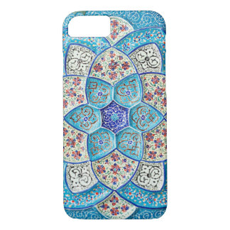 Traditional Moroccan turquoise Blue, white, salmon Case-Mate iPhone Case