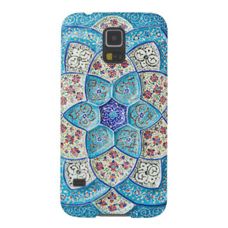 Traditional Moroccan turquoise Blue, white, salmon Galaxy S5 Cover