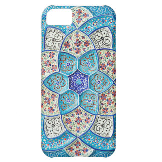 Traditional Moroccan turquoise Blue, white, salmon iPhone 5C Cover