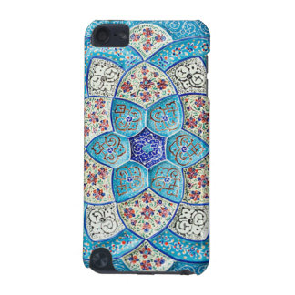 Traditional Moroccan turquoise Blue, white, salmon iPod Touch 5G Cover