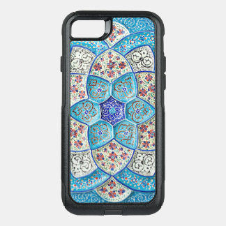 Traditional Moroccan turquoise Blue, white, salmon OtterBox Commuter iPhone 8/7 Case