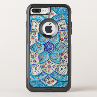 Traditional Moroccan turquoise Blue, white, salmon OtterBox Commuter iPhone 8 Plus/7 Plus Case