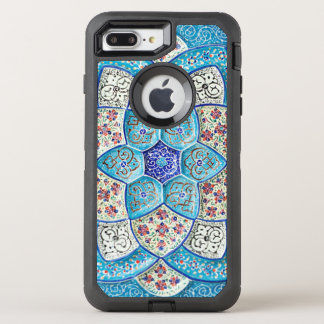 Traditional Moroccan turquoise Blue, white, salmon OtterBox Defender iPhone 7 Plus Case