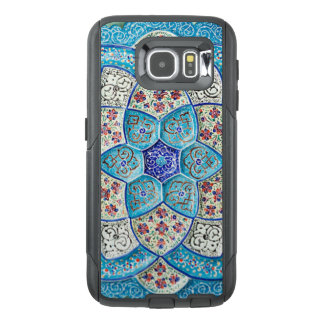 Traditional Moroccan turquoise Blue, white, salmon OtterBox Samsung Galaxy S6 Case