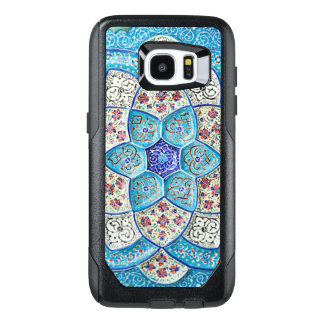 Traditional Moroccan turquoise Blue, white, salmon OtterBox Samsung Galaxy S7 Edge Case