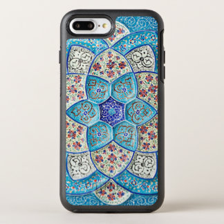 Traditional Moroccan turquoise Blue, white, salmon OtterBox Symmetry iPhone 7 Plus Case