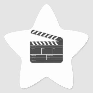 Traditional Movie Clapper-Board Star Sticker