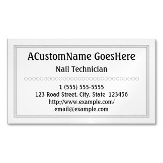Traditional Nail Technician Magnetic Business Card