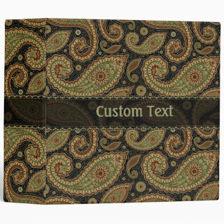 Traditional Paisley Pattern Design-Template Binder