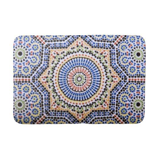 Traditional Portuguese Azulejo Tile Pattern Bathroom Mat