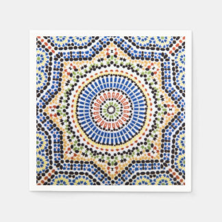 Traditional Portuguese Azulejo Tile Pattern Disposable Napkin