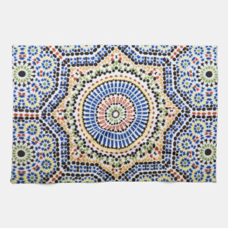 Traditional Portuguese Azulejo Tile Pattern Kitchen Towel