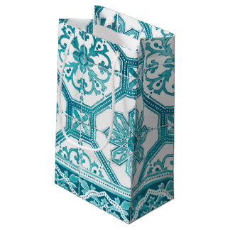 Traditional Portuguese blue tiles design Small Gift Bag
