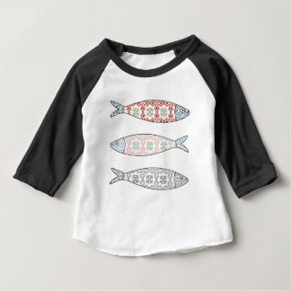 Traditional Portuguese icon. Colored sardines Baby T-Shirt
