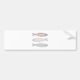 Traditional Portuguese icon. Colored sardines Bumper Sticker