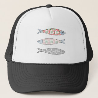Traditional Portuguese icon. Colored sardines Trucker Hat