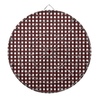 Traditional red chequered pattern, worker clothing dart board