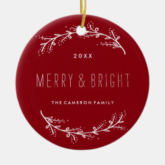 Traditional Red Christmas Photo Ornament