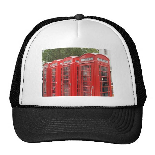 Traditional Red Telephone Box London Trucker Hat