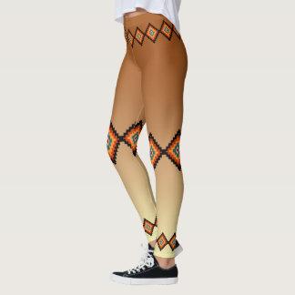Traditional Romanian Folk Art Motifs Leggings