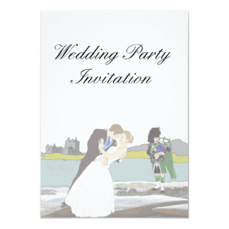 Traditional Scottish and Celtic Wedding Theme Card