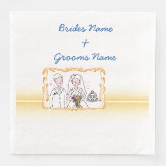 Traditional Scottish and Celtic Wedding Theme Paper Napkins