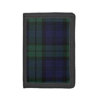 Traditional Scottish Black Watch Tartan Plaid Tri-fold Wallet