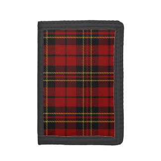 Traditional Scottish Brodie Tartan Plaid Trifold Wallets