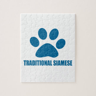 TRADITIONAL SIAMESE CAT DESIGNS JIGSAW PUZZLE