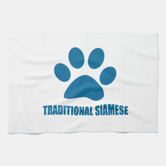 TRADITIONAL SIAMESE CAT DESIGNS KITCHEN TOWEL
