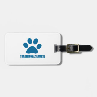 TRADITIONAL SIAMESE CAT DESIGNS LUGGAGE TAG