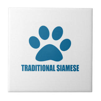TRADITIONAL SIAMESE CAT DESIGNS TILE
