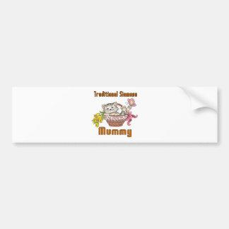Traditional Siamese Cat Mom Bumper Sticker