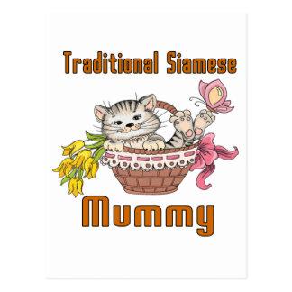 Traditional Siamese Cat Mom Postcard