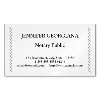 Traditional & Simple Notary Public Business Card Magnet