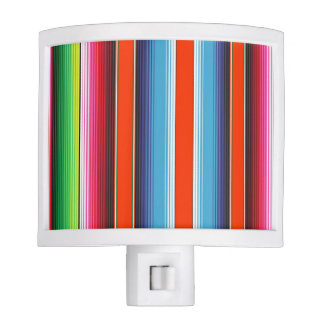 Traditional Spanish Serape Fiesta Mexican Blanket Night Light