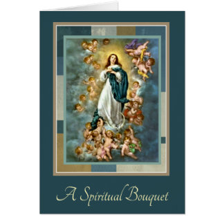 Traditional Spiritual Bouquet Assumption Mary Card