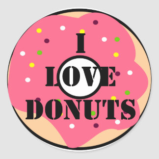 Traditional Sticker Donuts
