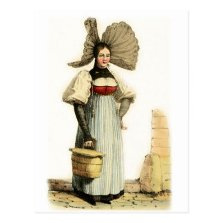 Traditional Swiss Costume of Bern Postcard